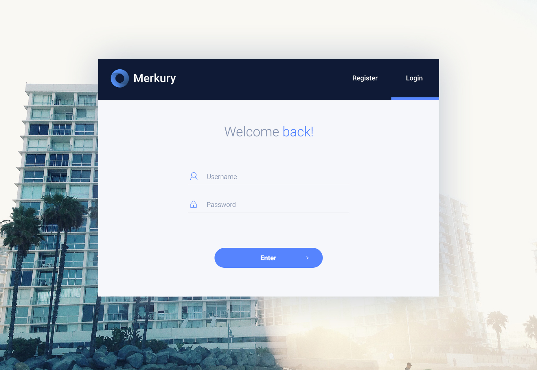 Merkury: Web Dashboard PSD Template