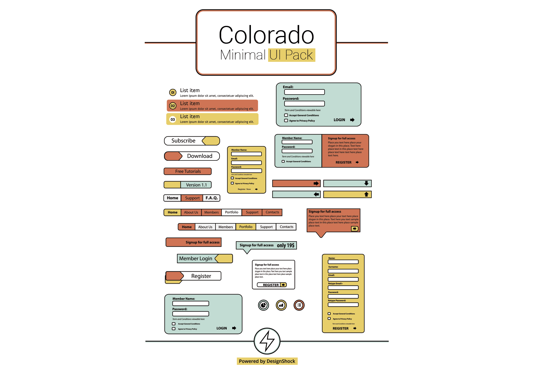 Colorado: Clean & Minimal UI Pack