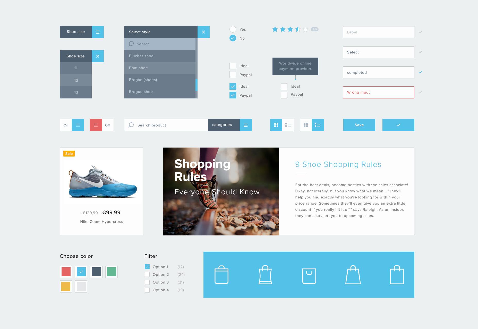 Minimal ECommerce PSD UI Kit
