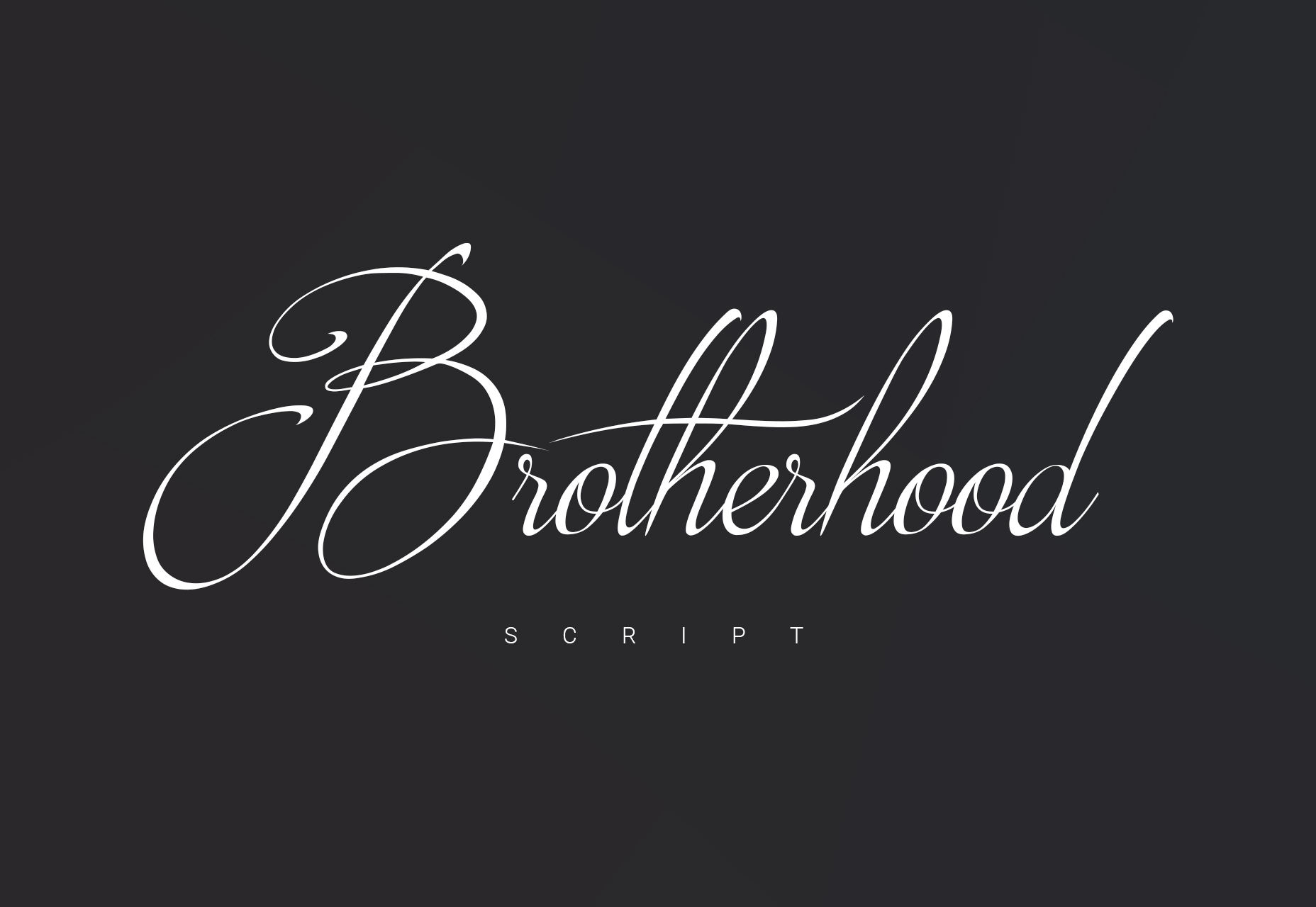 Brotherhood: Fancy Script Typeface