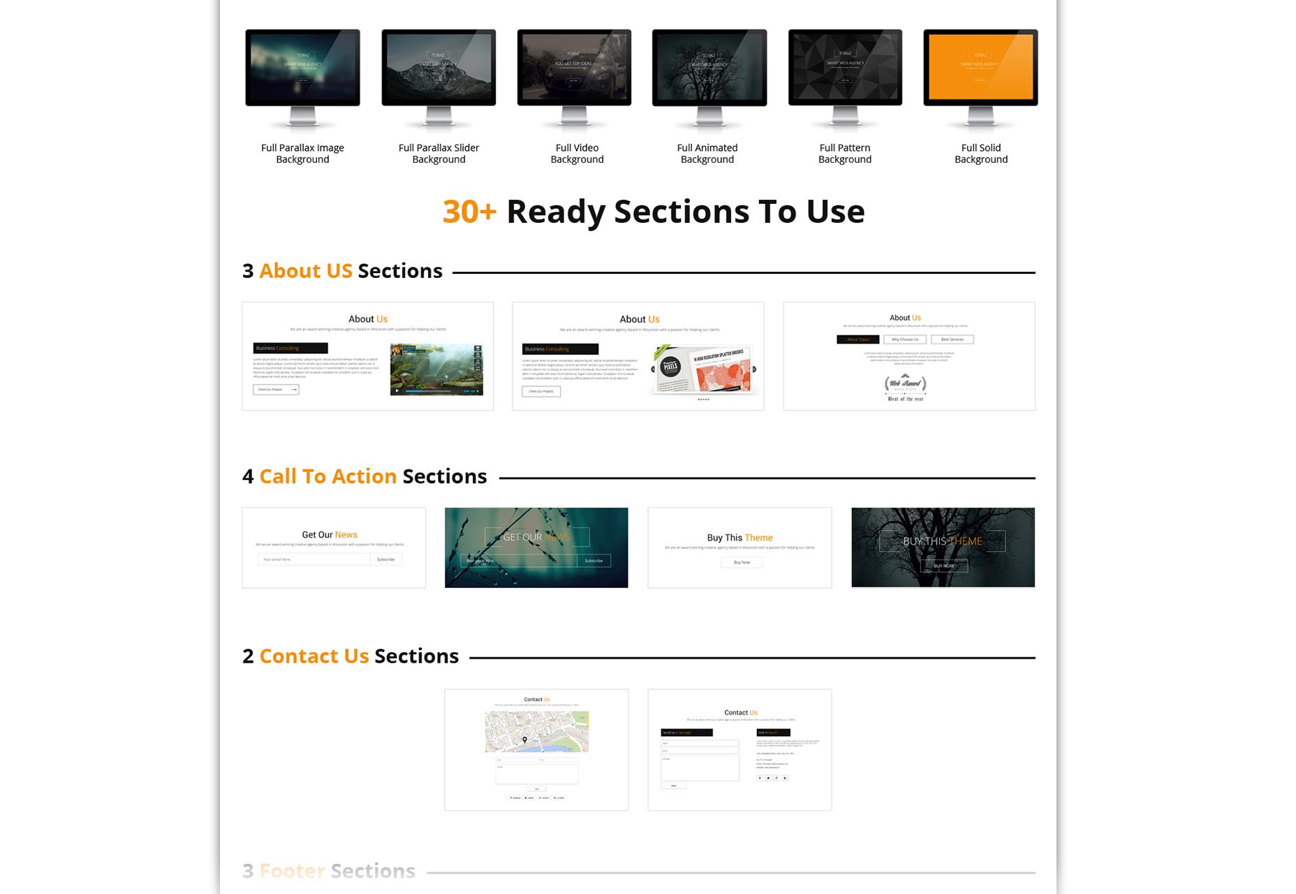 Sertin: Multi-purpose One-Page Bootstrap PSD Template