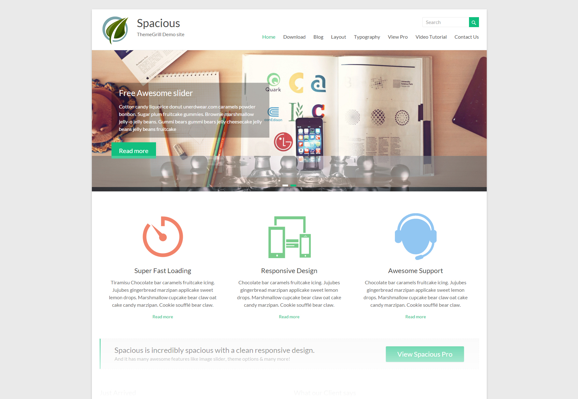 Spacious: Clean Multi-purpose WordPress Theme