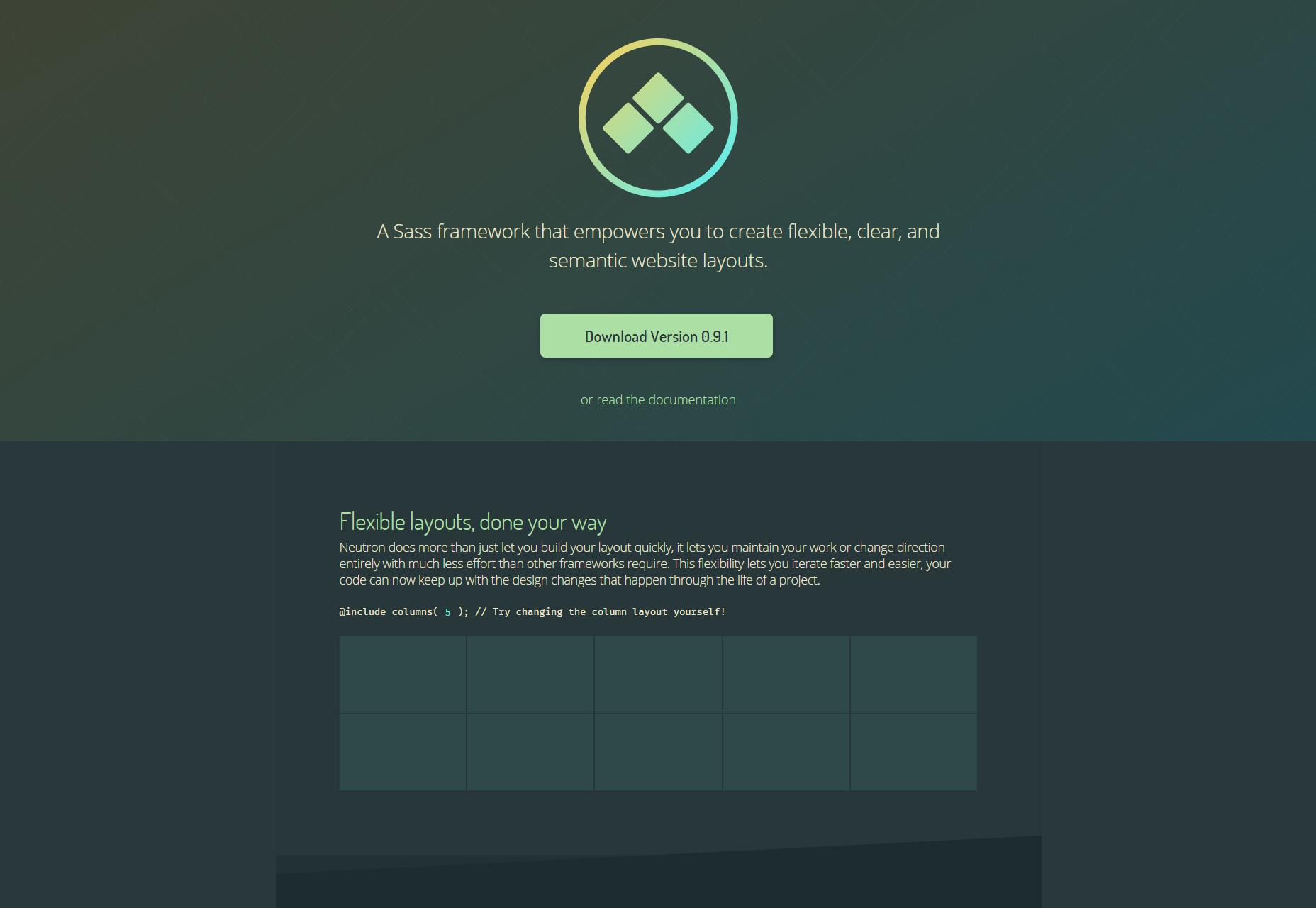Neutron: Sass Framework for Website Layouts
