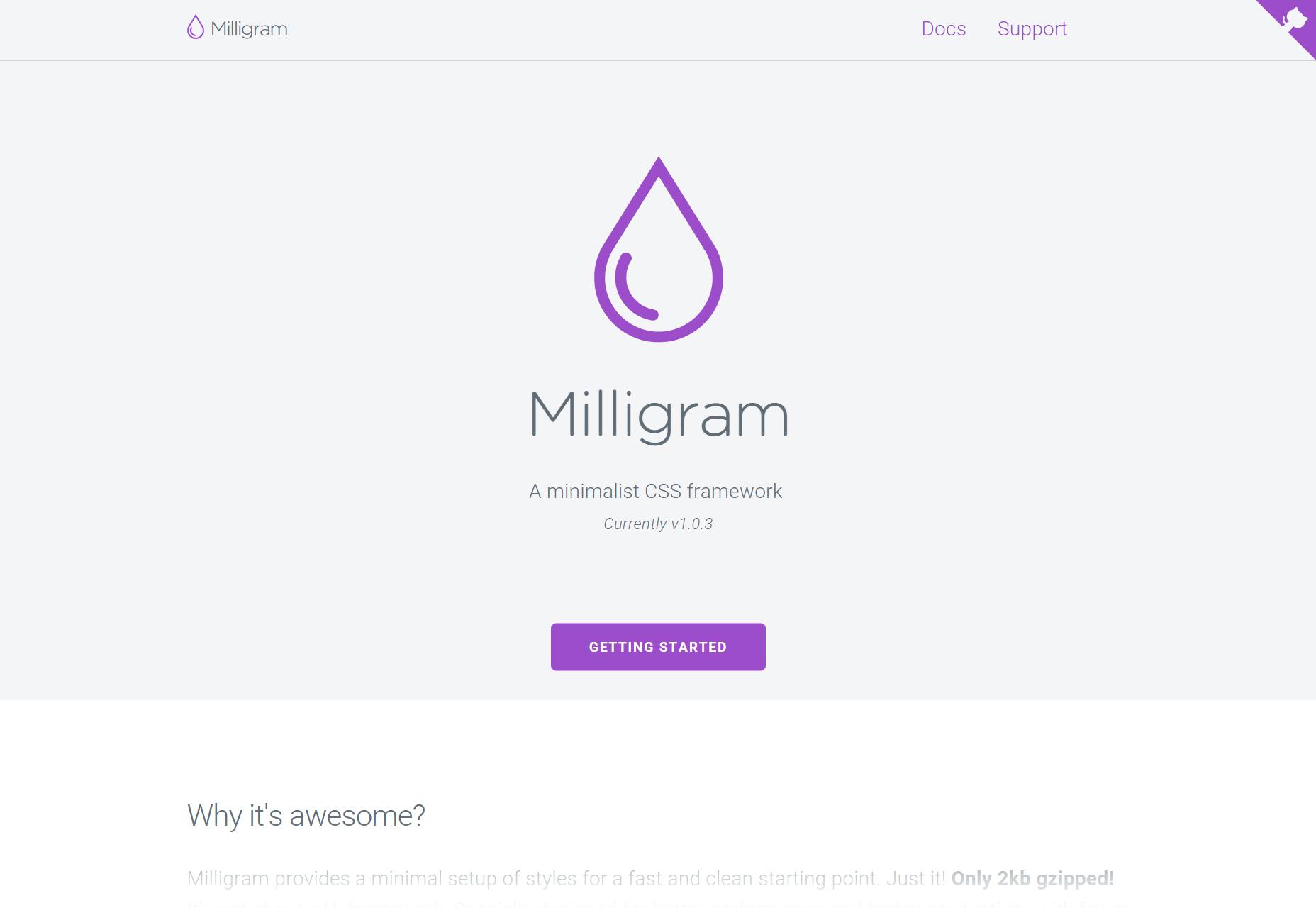 Milligram: Minimalist CSS Framework