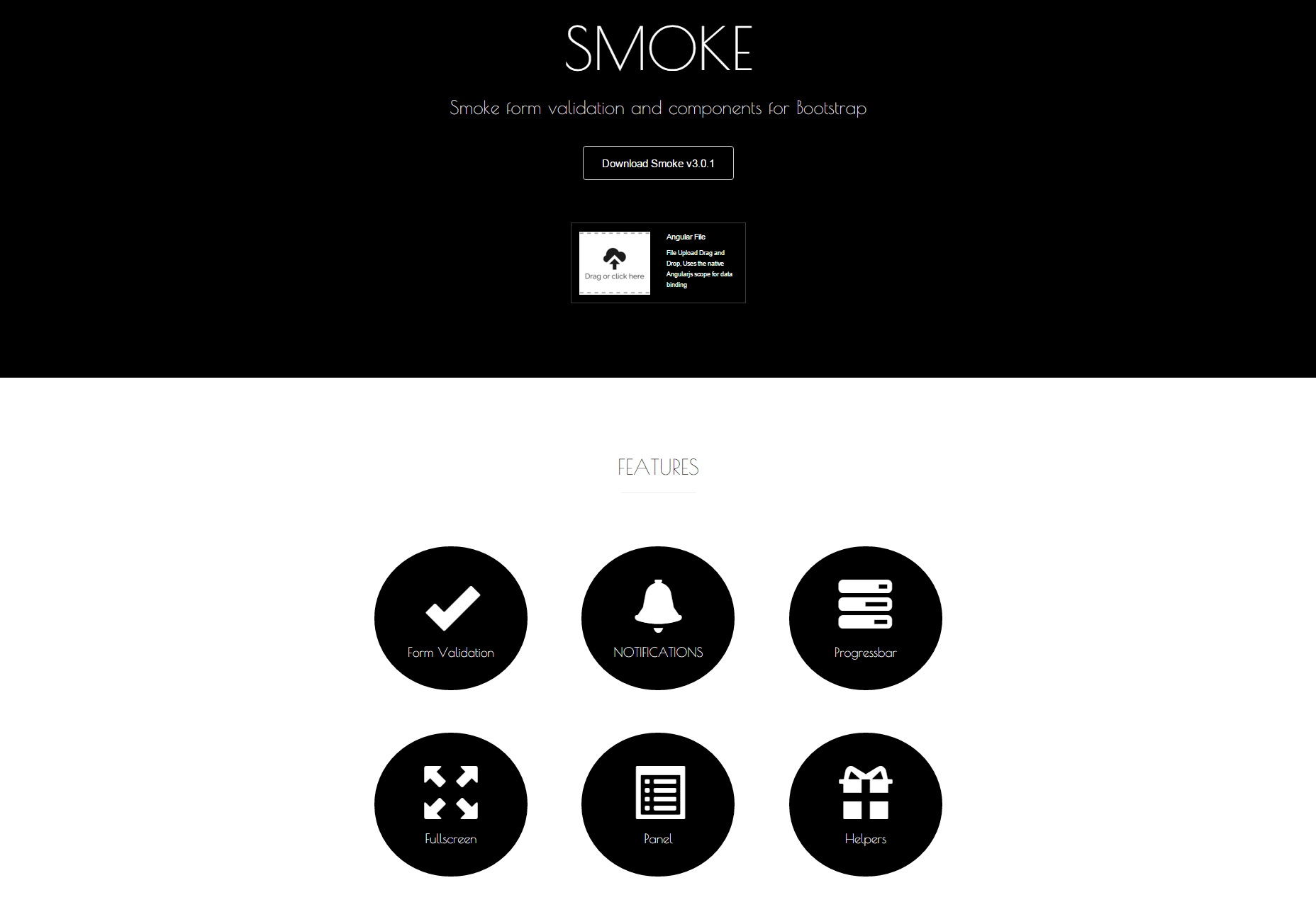 Smoke: Bootstrap Form Validation & Components
