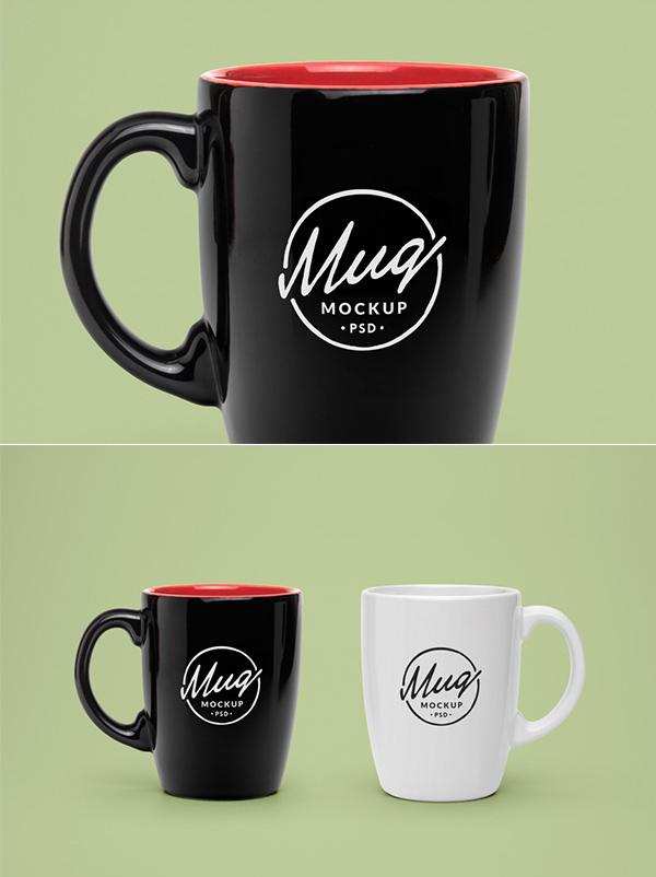 Free Realistic Mug PSD MockUp