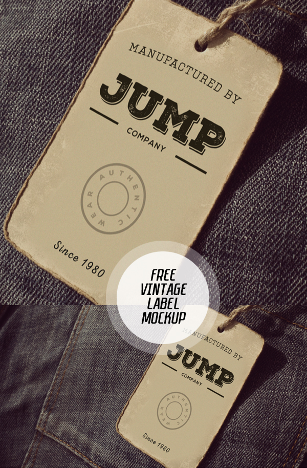 Free Clothing Label Mockup PSD