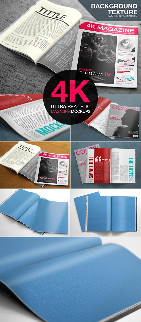 Ultra Realistic Free PSD Magazine Mockups