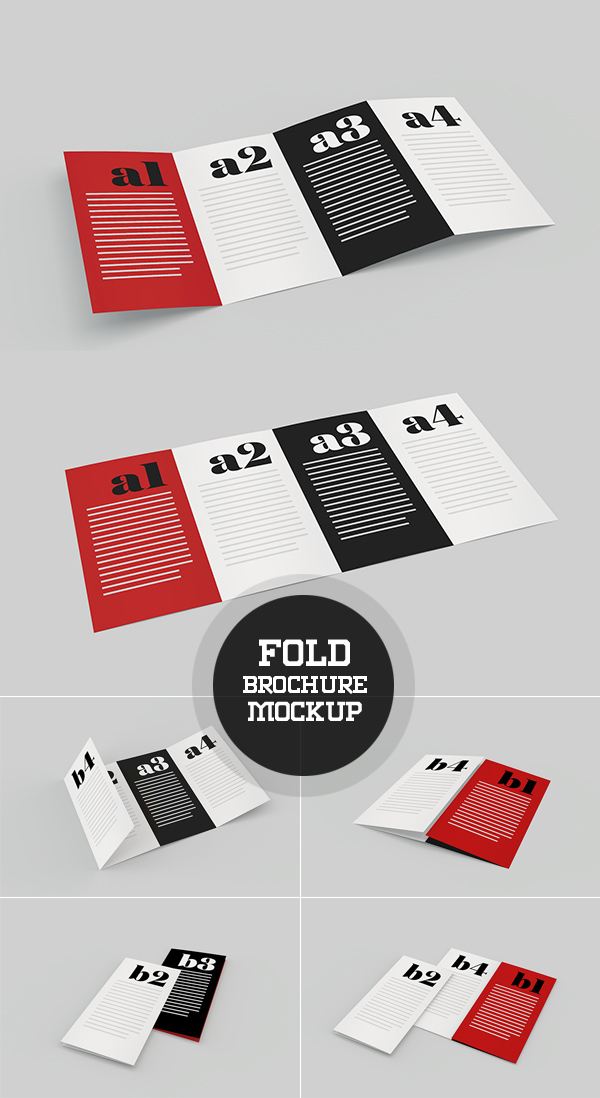 Free Fold Brochure Mockup Template