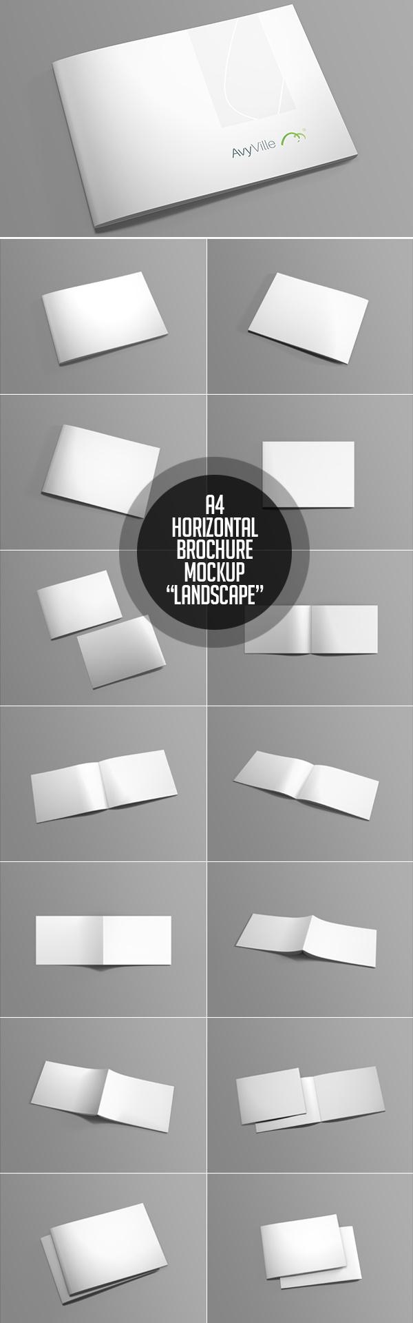 Free Landscape Brochure PSD Mockup