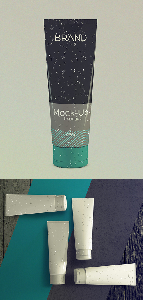 Realistic Cosmetics Packaging Mockup