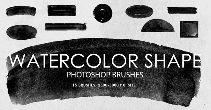 brushes shapes pack watercolors