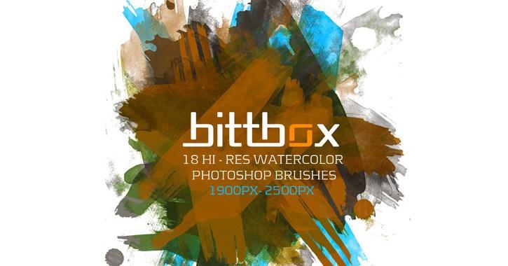 bittbox watercolor brush pack