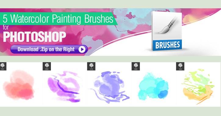 ps watercolor brush pack