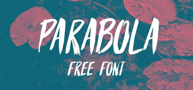 Parabola Free Brush Font