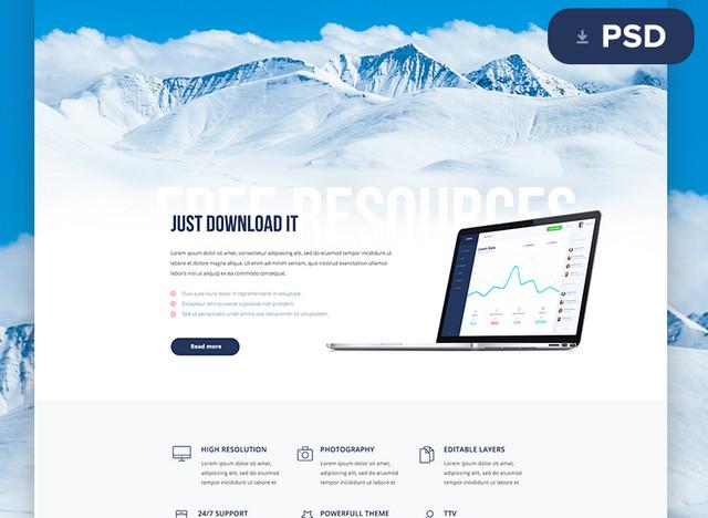 100 free psd website templates idevie
