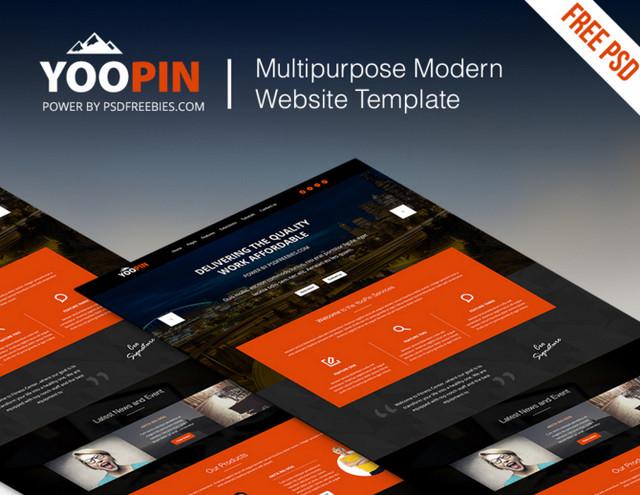 modern website te,plate