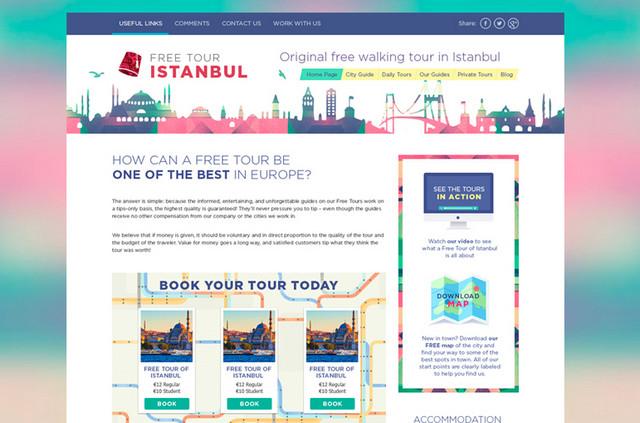walking tour website template