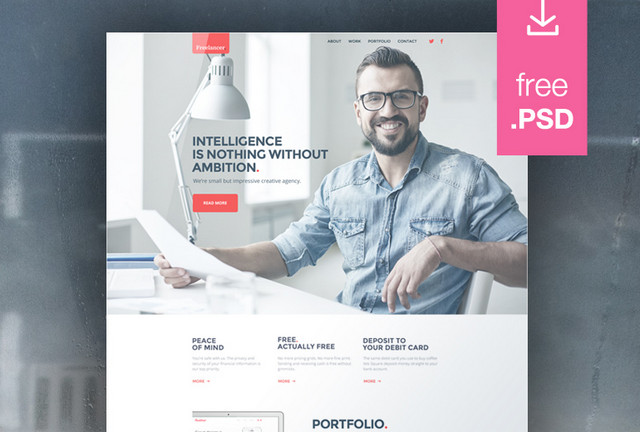 100 free psd website templates idevie freelance website template pronofoot35fo Image collections