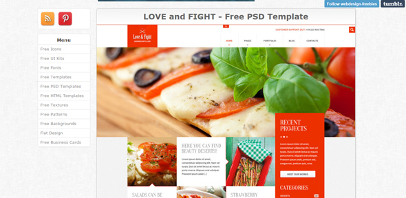 LOVE-and-FIGHT---Free-PSD-Template