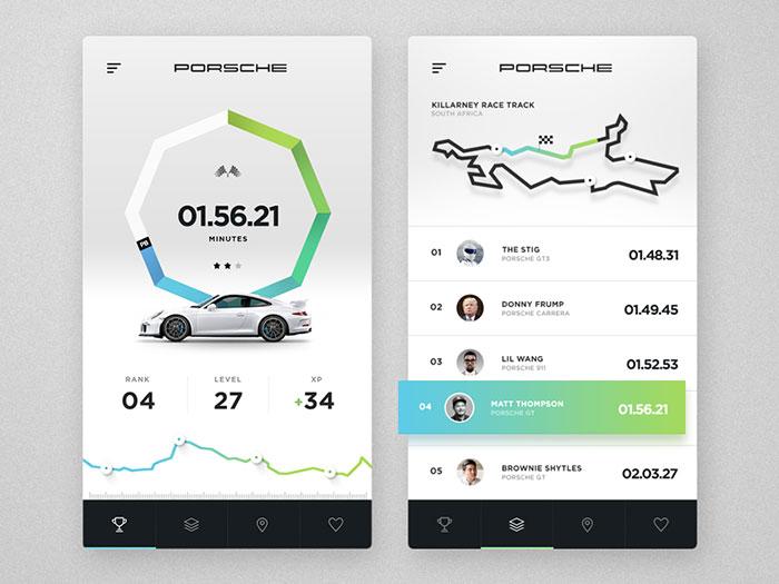 Porsche Game and Leaderboard concept