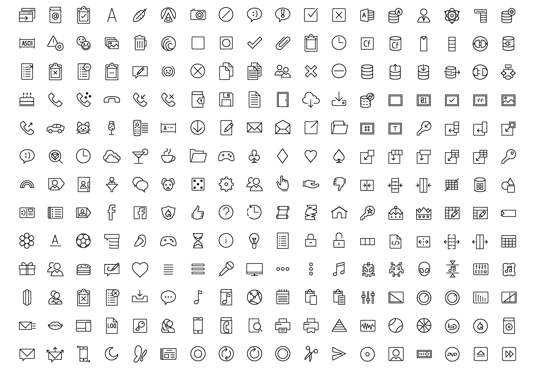 Outline & Filled Vector Icons Collection