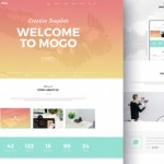 MoGo: Free one page PSD template