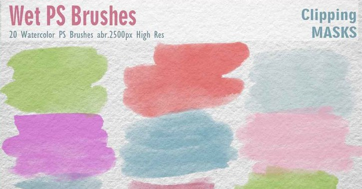 wet watercolor brushes pack