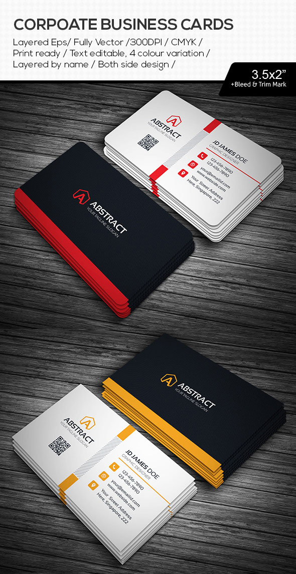 Abstract Illustrator AI Business Cards