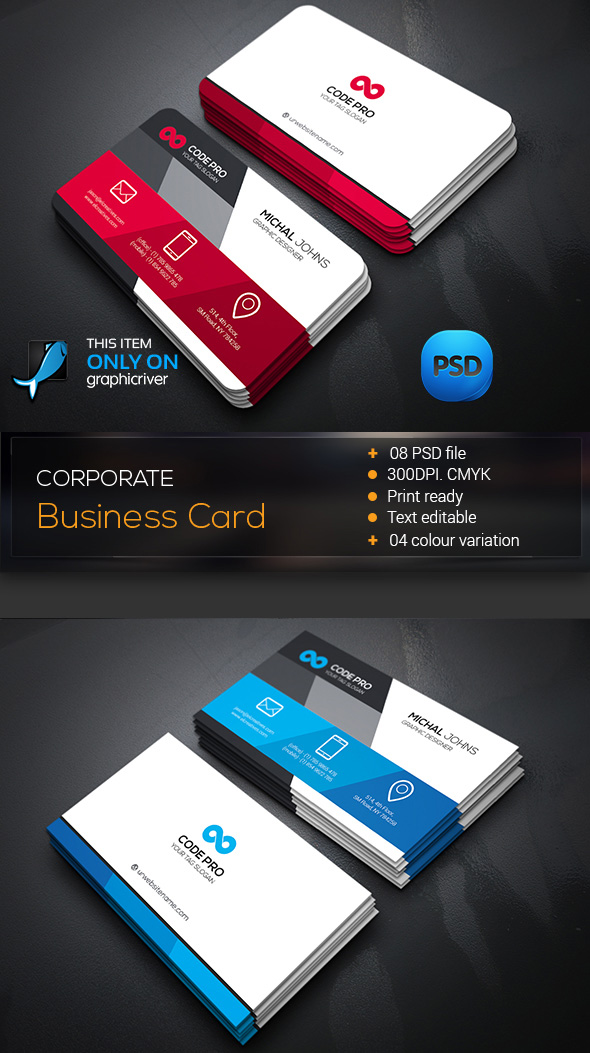 15 premium business card templates in photoshop illustrator amp corporate business card template wajeb Image collections