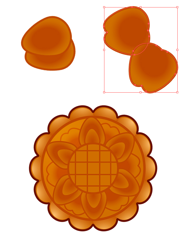 Draw larger petals and place them between the smaller ones to complete the design