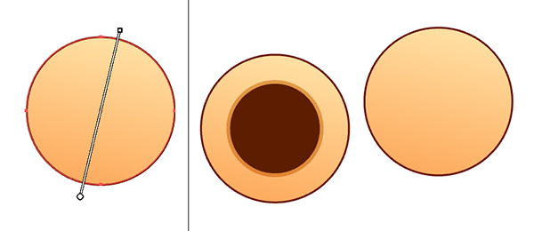 Draw a couple circles for the sesame balls