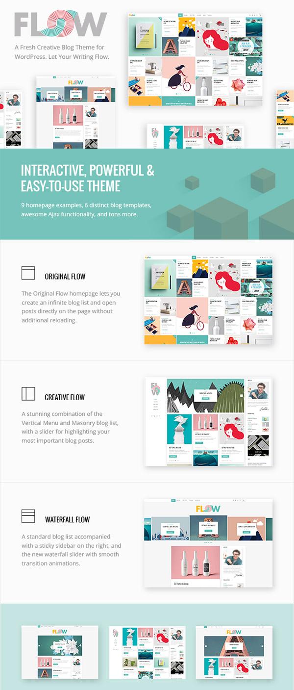 Flow New WordPress Theme 2016