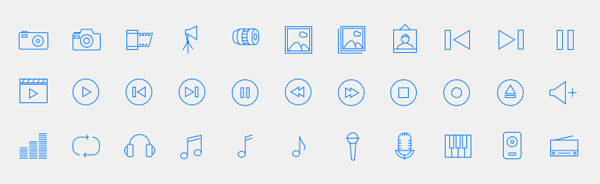 Flat Linear Icon Set
