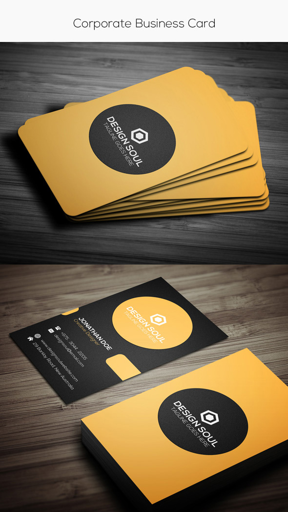Simple corporate card template