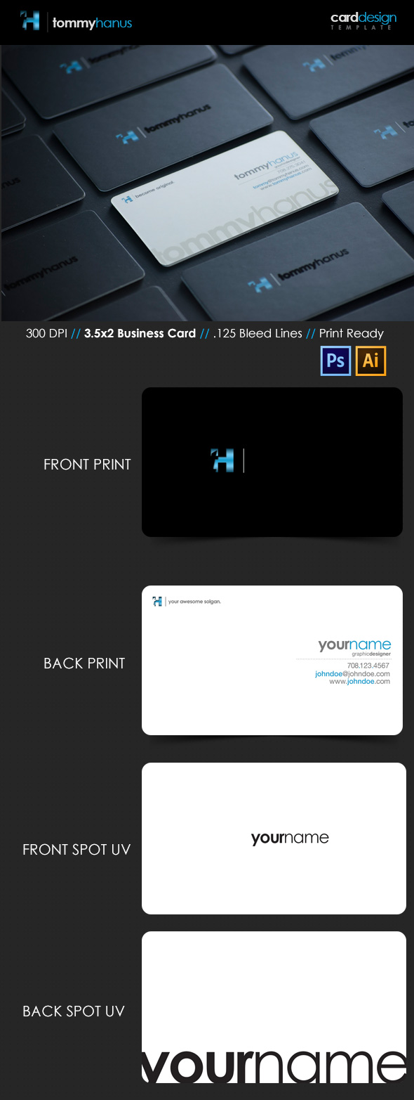 15 premium business card templates in photoshop illustrator amp sleek spot uv business card template reheart Gallery