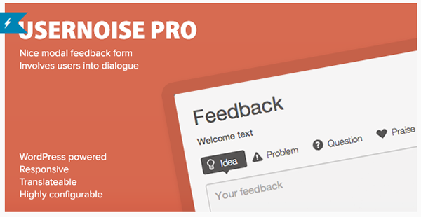 Usernoise Pro Modal Feedback  Contact Form