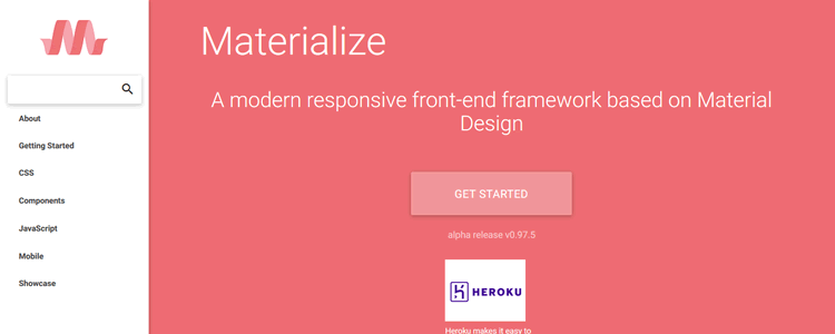 Materialize CSS Framework Material Design