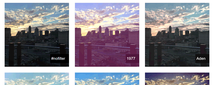 CSSGram library recreating Instagram filters CSS filters blend modes