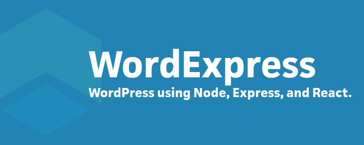 Wordexpress WordPress project Javascript instead PHP