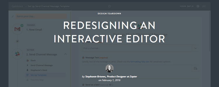 Redesigning an Interactive Editor