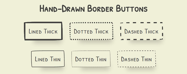 Imperfect Buttons Hand-Drawn border effect buttons CSS border-radius