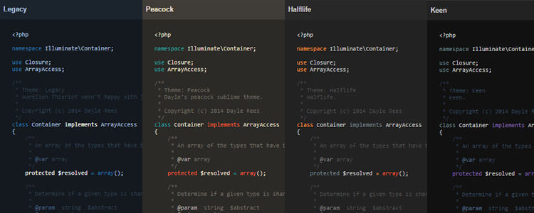 Editor Color Schemes collection Sublime Text VIM Textmate many more