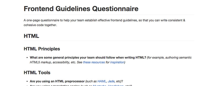Frontend Guidelines Questions