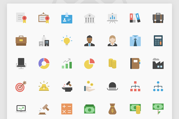 Freebie Nucleo Flat Business Icon Set AI SVG
