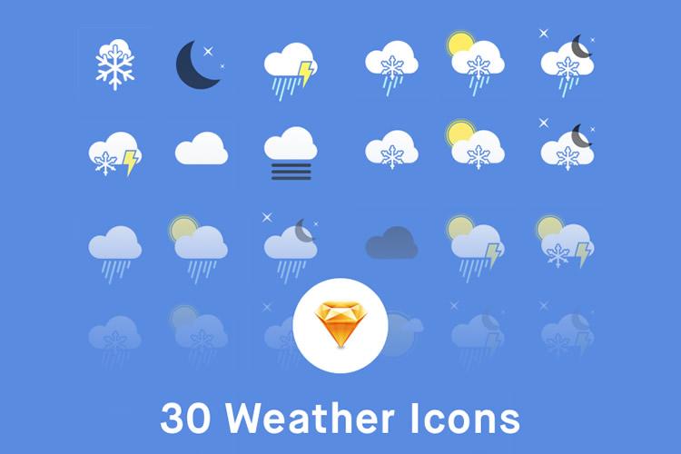 Freebie Weather Icons Sketch