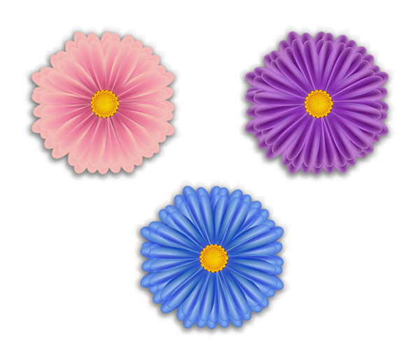 User hi commented with their own lovely version of gradient mesh flowers thanks to a tutorial by Diana Toma