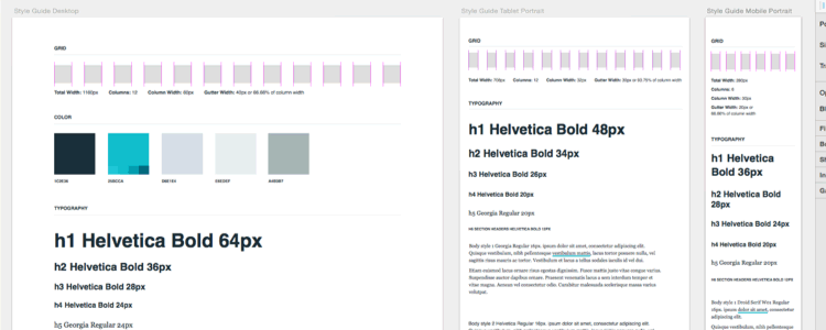 Responsive Digital Style Guide sketch