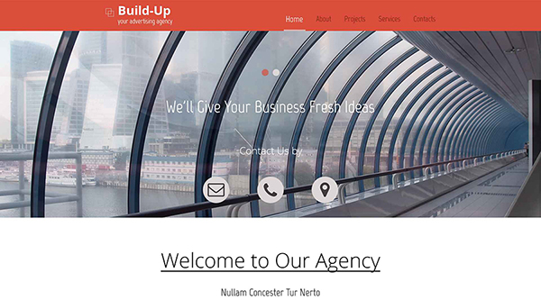 2. free html5 template for an advertising company website