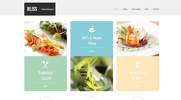 4. free html4 template to get your restaurant online